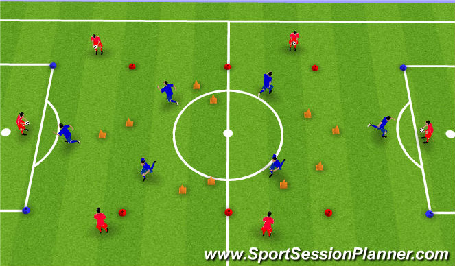 Football/Soccer Session Plan Drill (Colour): Receiving Technical Practice