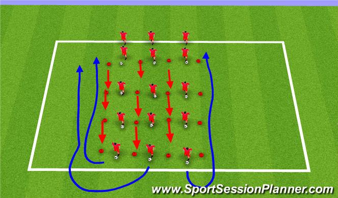 Football/Soccer Session Plan Drill (Colour): Coerver Skills