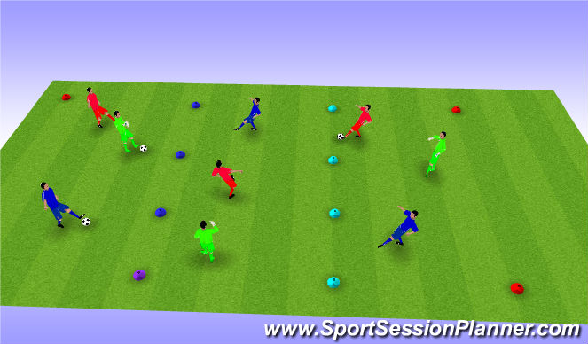 Football/Soccer Session Plan Drill (Colour): BU11 Warm up