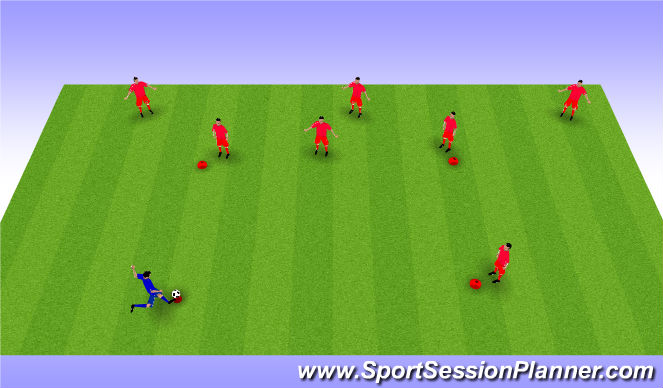 Football/Soccer Session Plan Drill (Colour): Baseball footie