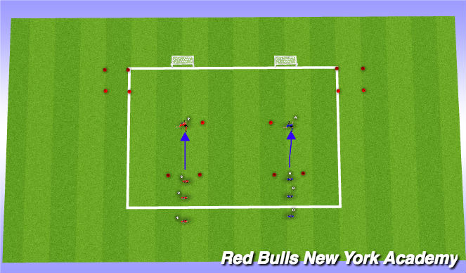 Football/Soccer Session Plan Drill (Colour): Warm up ( jail)