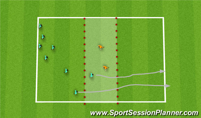 Football/Soccer Session Plan Drill (Colour): spider