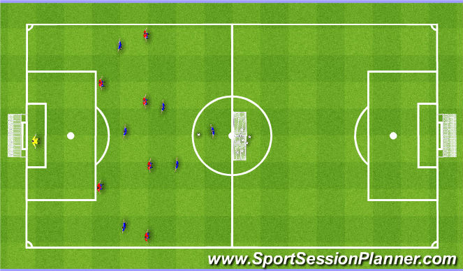 Football/Soccer Session Plan Drill (Colour): Training Game