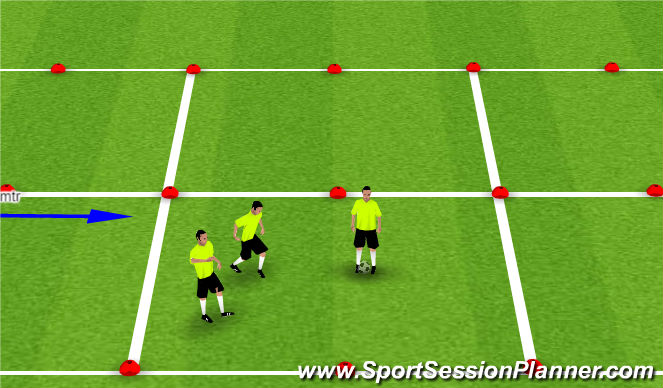 Football/Soccer Session Plan Drill (Colour): Foundations