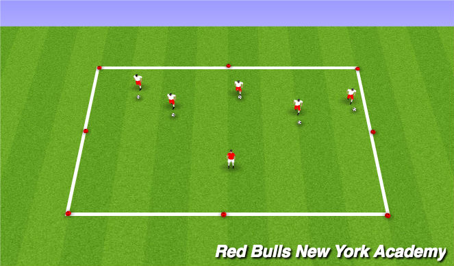 Football/Soccer Session Plan Drill (Colour): Freeze go