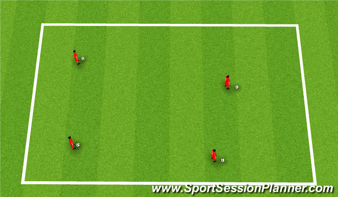 Football/Soccer Session Plan Drill (Colour): Warm Up:
