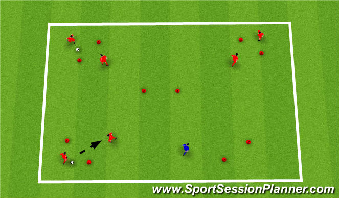 Football/Soccer Session Plan Drill (Colour): Technical:
