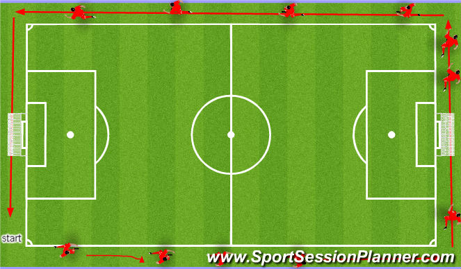 Football/Soccer Session Plan Drill (Colour): 2 mile run or 12 minute Cooper test