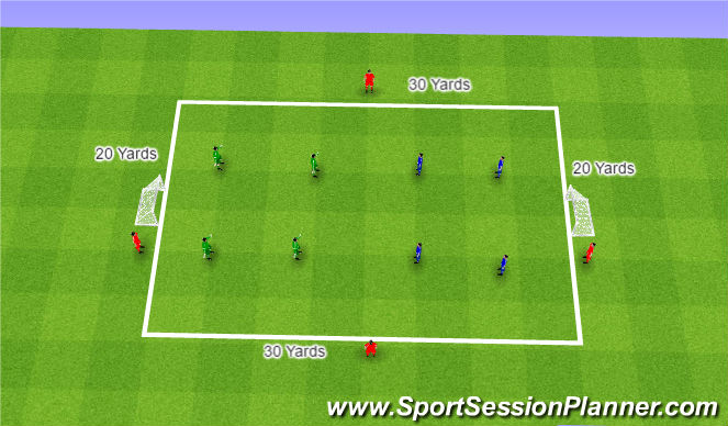 Football/Soccer Session Plan Drill (Colour): 1-0 To The Arsenal