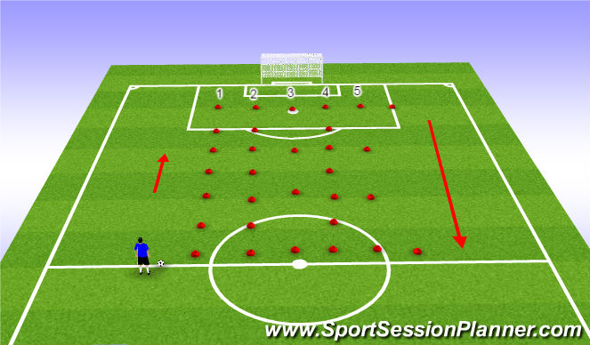 Football/Soccer Session Plan Drill (Colour): Try out Part 2