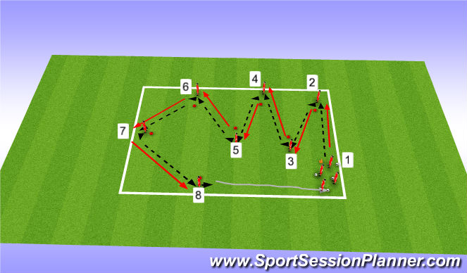 Football/Soccer Session Plan Drill (Colour): Unopposed Technical