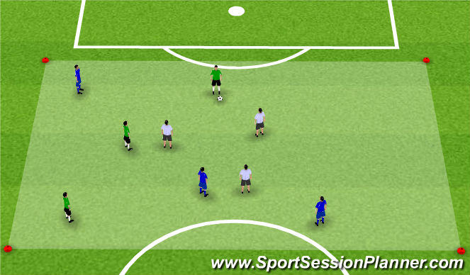 Football/Soccer Session Plan Drill (Colour): Activity 1: 4+4v4