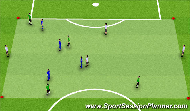 Football/Soccer Session Plan Drill (Colour): Activity 2: 4v4+4