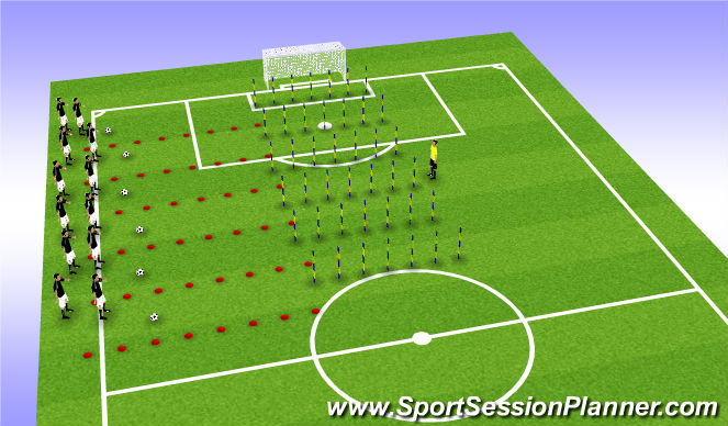 Football/Soccer Session Plan Drill (Colour): Technical Skills