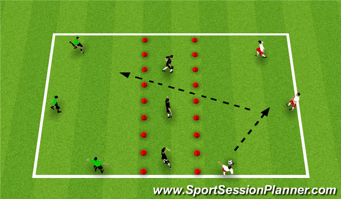 Football/Soccer Session Plan Drill (Colour): Receiving 2