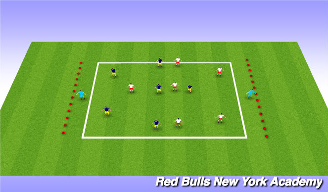 Football/Soccer Session Plan Drill (Colour): In Transition