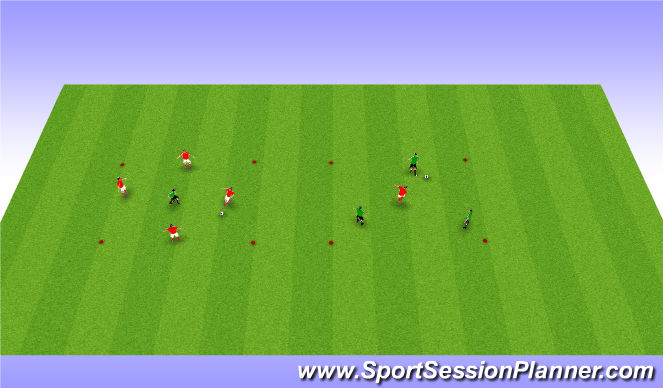 Football/Soccer Session Plan Drill (Colour): Arrival: Rondo