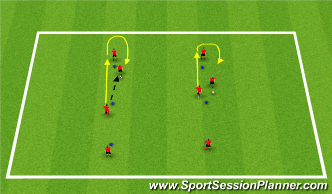 Football/Soccer Session Plan Drill (Colour): Activity 1: Pass and Chase