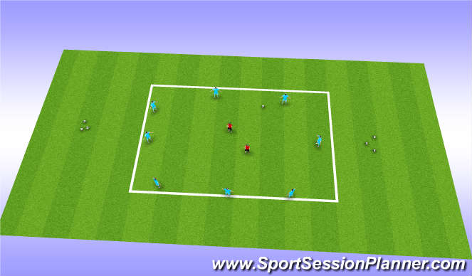Football/Soccer Session Plan Drill (Colour): wu 1