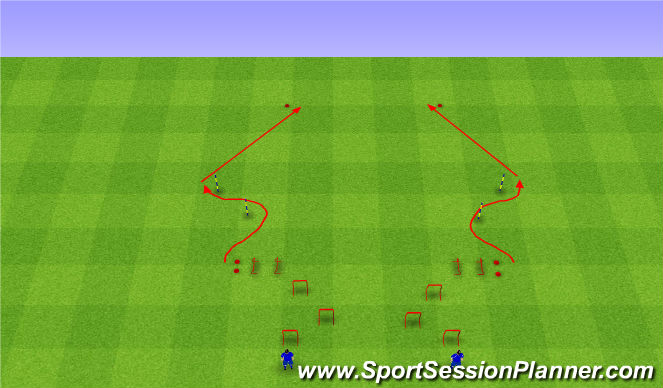 Football/Soccer Session Plan Drill (Colour): Б-К-С-С.