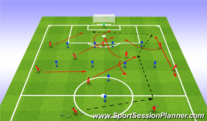 Football/Soccer Session Plan Drill (Colour): М_К_Д(ат)