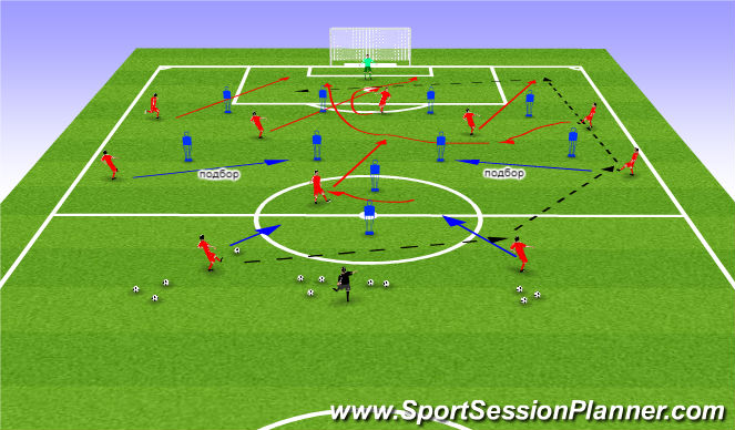 Football/Soccer Session Plan Drill (Colour): М.К.Д. -3/4.