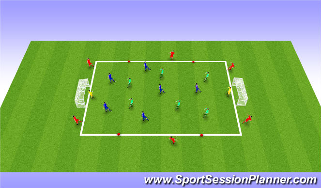 Football/Soccer Session Plan Drill (Colour): S.S.G.