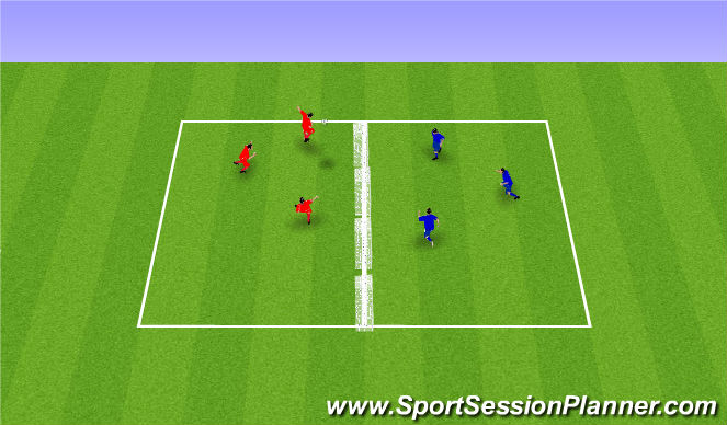 Football/Soccer Session Plan Drill (Colour): Skallatennis: