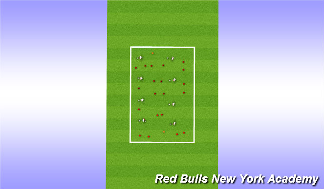 Football/Soccer Session Plan Drill (Colour): Genral warm up 1-10