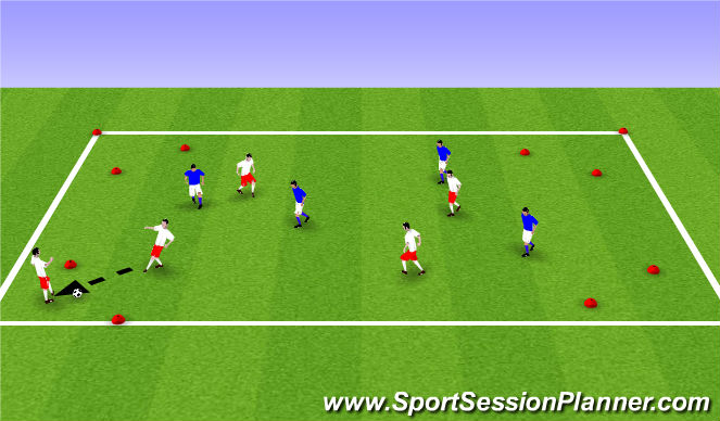 Football/Soccer Session Plan Drill (Colour): ADP Girls 9s Aug 18th