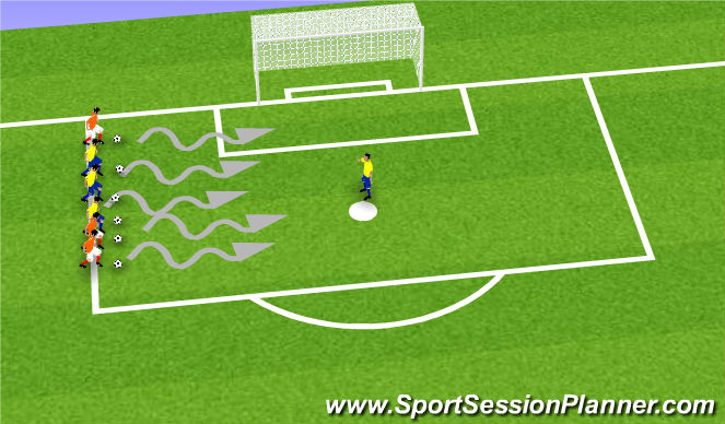 Football/Soccer Session Plan Drill (Colour): Fishy fishy