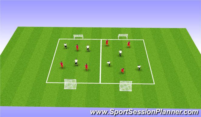 Football/Soccer Session Plan Drill (Colour): SSG  3 V 3