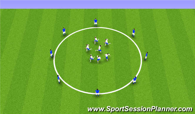 Football/Soccer Session Plan Drill (Colour): Circle Warm-Up