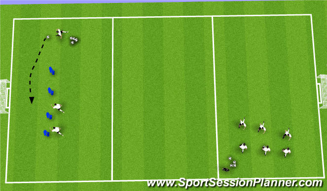 Football/Soccer Session Plan Drill (Colour): Groups