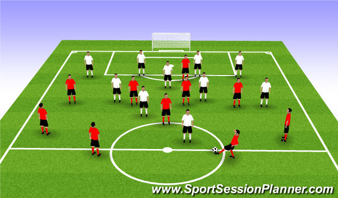Football/Soccer Session Plan Drill (Colour): Off vs Def