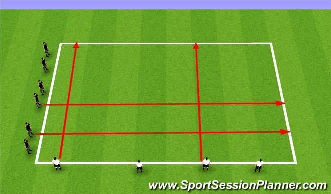 Football/Soccer Session Plan Drill (Colour): WU: Crossing the river