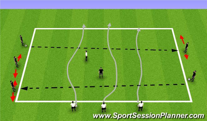 Football/Soccer Session Plan Drill (Colour): T2: Beating the defender