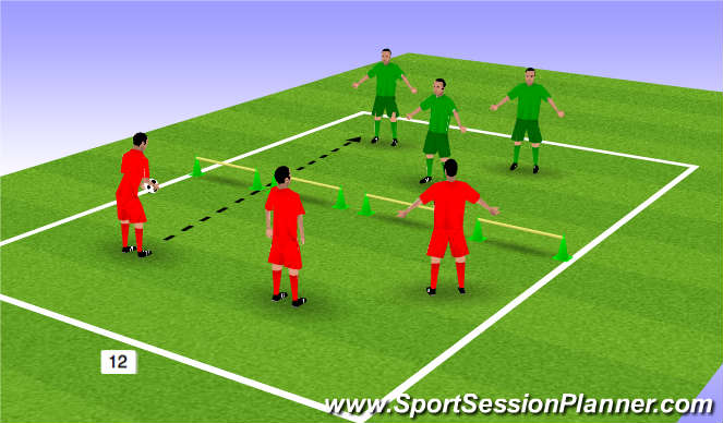 Football/Soccer Session Plan Drill (Colour): Juggling Tennis Warm Up