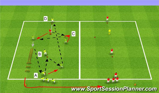 Football/Soccer Session Plan Drill (Colour): Combinaison 13