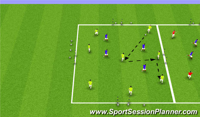 Football/Soccer Session Plan Drill (Colour): SSG18