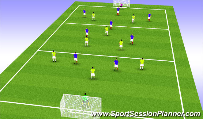 Football/Soccer Session Plan Drill (Colour): Sixte