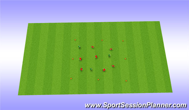 Football/Soccer Session Plan Drill (Colour): Coerver Warmup/Skills