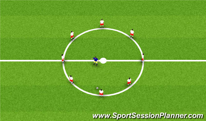 Football/Soccer Session Plan Drill (Colour): Warm-Up - Rondo