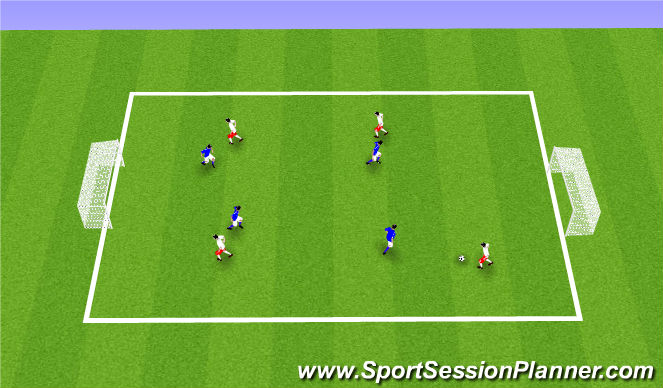 Football/Soccer Session Plan Drill (Colour): Station 1: Small Sided Game