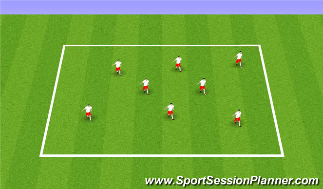 Football/Soccer Session Plan Drill (Colour): Station 4: Ball Mastery