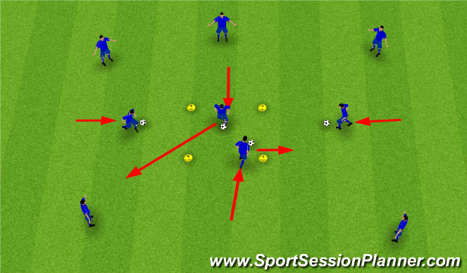 Football/Soccer Session Plan Drill (Colour): Ball Mastery Box