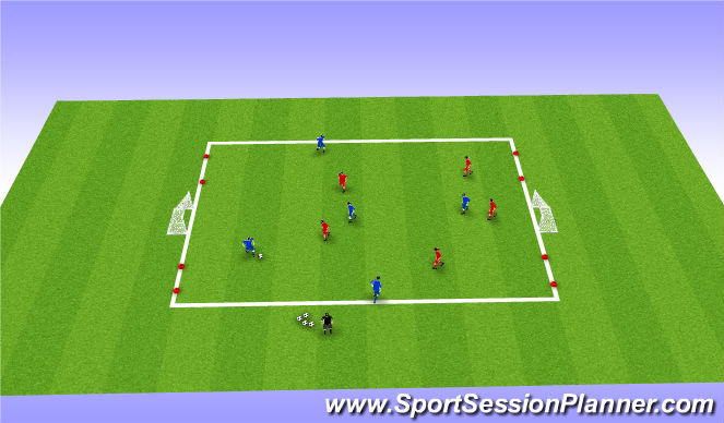 Football/Soccer Session Plan Drill (Colour): Station 1: Small Sided Games