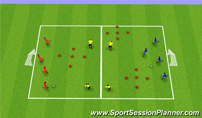 Football/Soccer Session Plan Drill (Colour): PDE