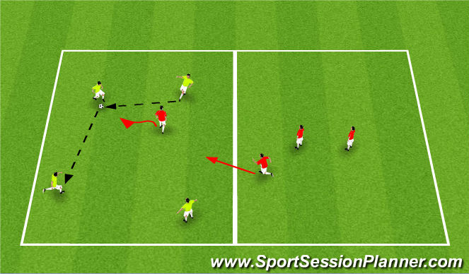 Football/Soccer Session Plan Drill (Colour): SSG17