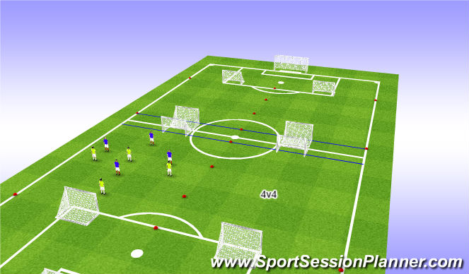 Football/Soccer Session Plan Drill (Colour): SSG 18